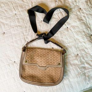 orYANY Gaby Tan Embossed Weave Leather Crossbody